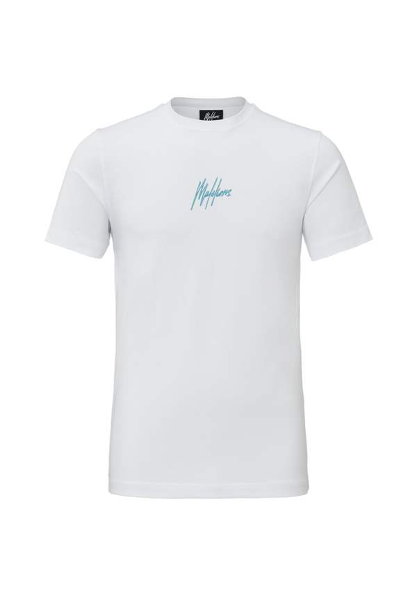 Malelions T-Shirt Double Signature White