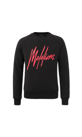 Malelions Malelions Crewneck  Black/Red