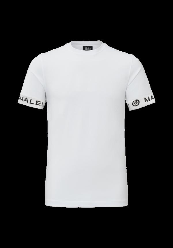 Malelions One Tape T-shirt White/Black