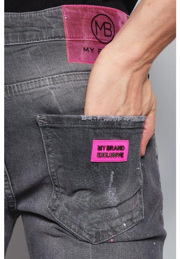 MyBrand 1-X20-004-B-0008 Grey Faded Pink Spot Short