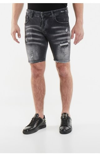 My Brand MyBrand 1-X20-004-B-000122DG Grey Faded Grey Spot Short