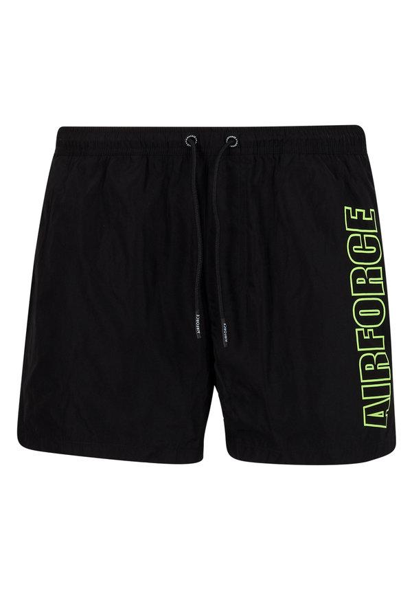 Airforce Outline Swimshort True Black/Neon Green