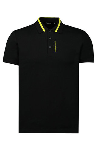 Antony Morato Antony Morato SS20 Polo Black/ Neon MMKS01712-FA100083