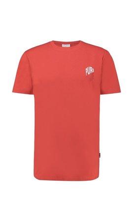 Purewhite Purewhite 20010139 SS20  T-shirt Red