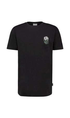Purewhite Purewhite 20010139 SS20 Black T-shirt
