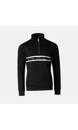 AB-Lifestyle AB Lifestyle Striped Track Sweater Zwart
