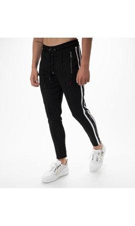 AB-Lifestyle AB Lifestyle Striped Track Pants Black