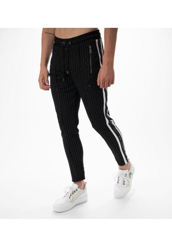 AB Lifestyle Striped Track Pants Black