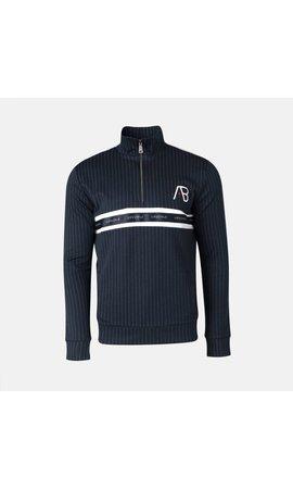 AB-Lifestyle AB Lifestyle Striped Track Sweater Navy
