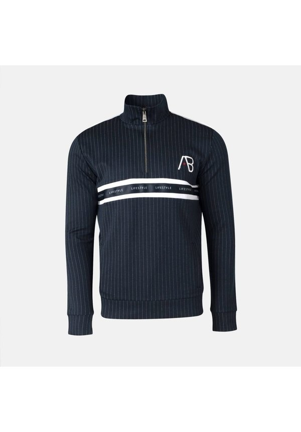 AB Lifestyle Striped Track Sweater Navy
