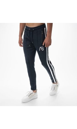 AB-Lifestyle AB Lifestyle Striped Track Pants Navy