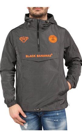 Black Bananas Black Bananas SS20 The Anorak Windbreaker Grey/Neon orange