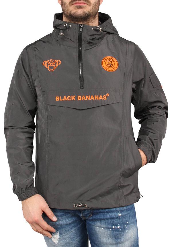 Black Bananas SS20 The Anorak Windbreaker Grey/Neon orange