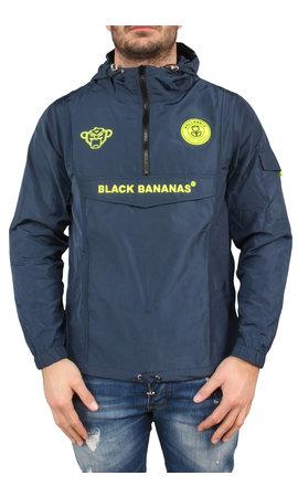 Black Bananas Black Bananas SS20 The Anorak Windbreaker Navy/Neon Yellow