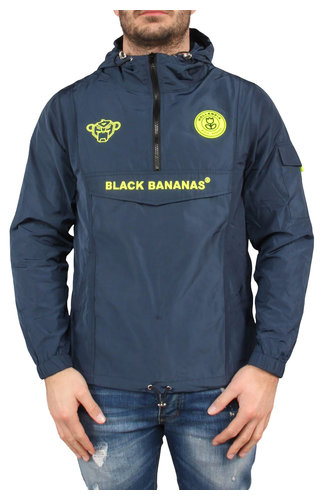 Black Bananas Black Bananas SS20 The Anorak Windbreaker Navy/Neon Yellow