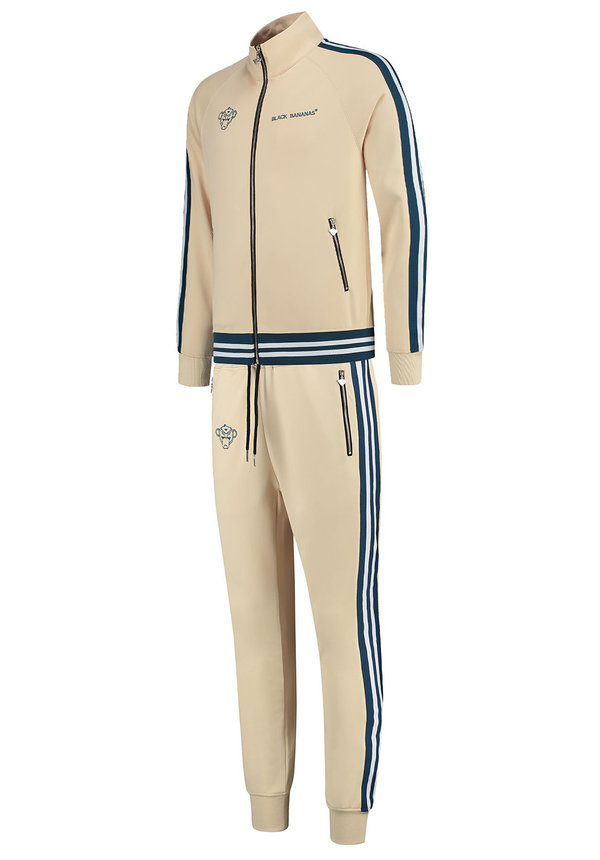 Black Bananas Ribbed Tape Tracksuit Sand