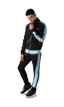 Black Bananas Black Bananas Ribbed Tape Tracksuit Black