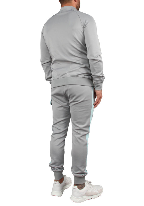 Black Bananas Anorak Collar Tracksuit Grey