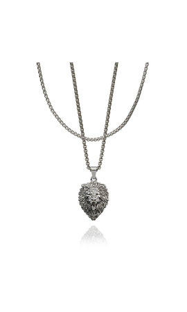 Croyez Croyez Sacred Heart W/ Round Boxchain Silver