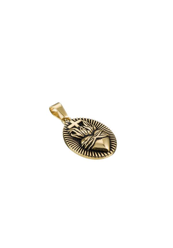 Croyez Sacred Heart W/ Round Boxchain 14k gold