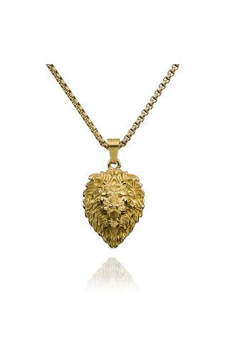 Croyez Croyez Lion W/ round Boxchain 14k gold
