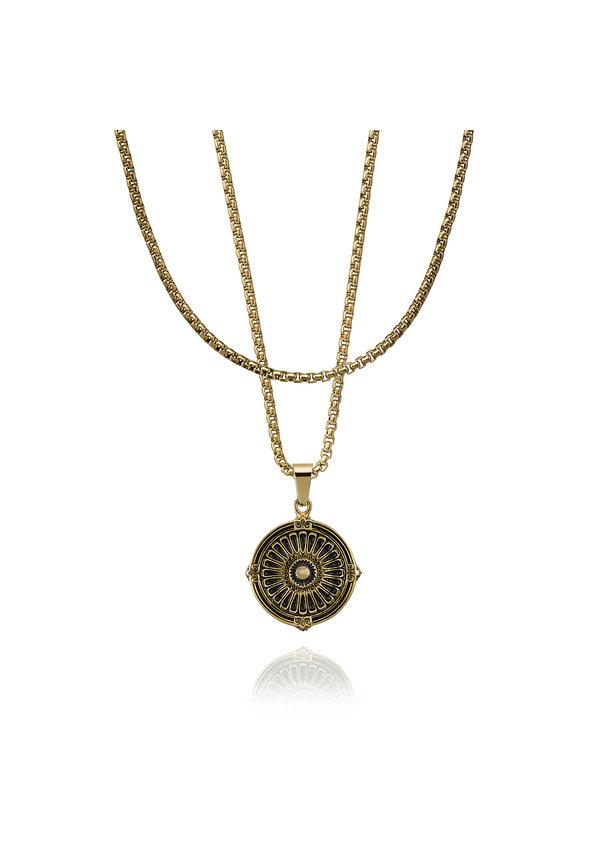 Croyez Medaillon W / Round Boxchain 14k gold