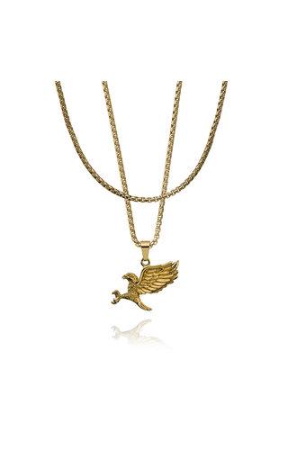 Croyez Croyez Eagle W/ Round Boxchain 14k gold