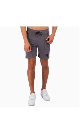 AB-Lifestyle AB Lifestyle embroidery Short Grey
