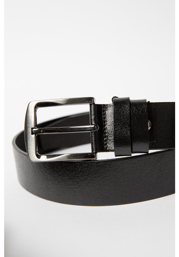 Leyon Leather Belt Black