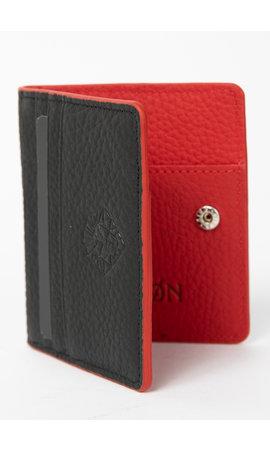 LEYON Leyon Book Wallet Black/Red