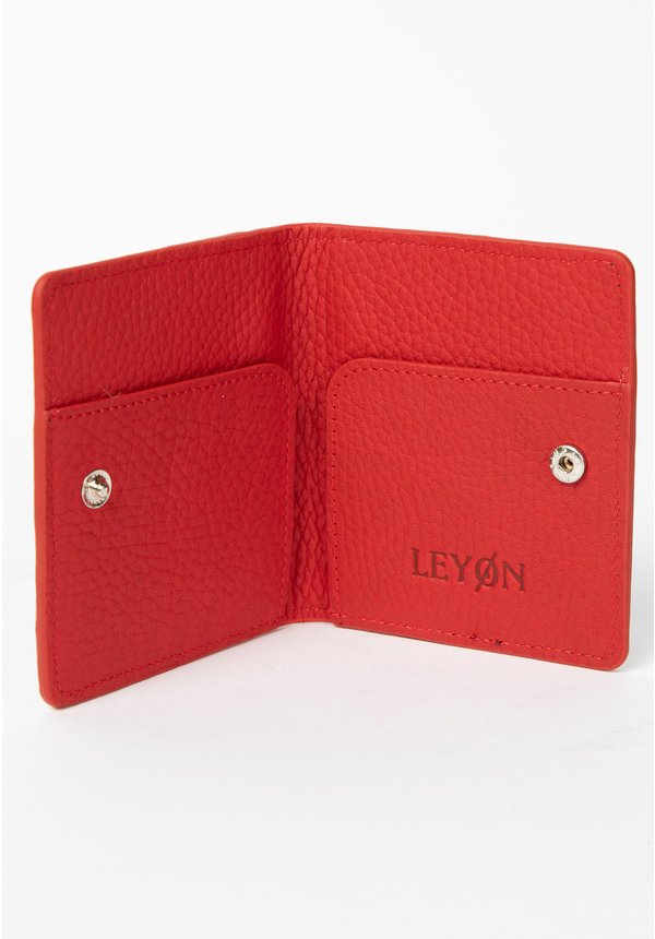 Leyon Book Wallet Black/Red