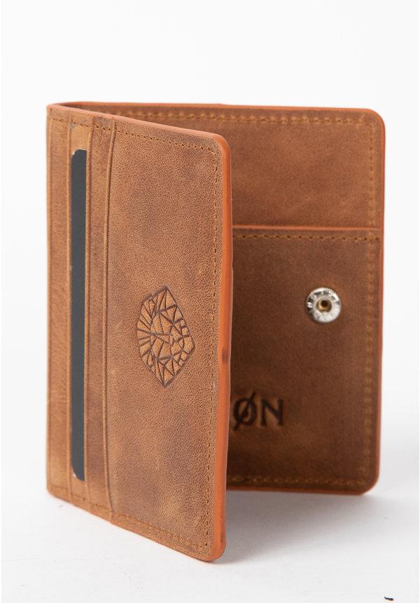 Leyon Book Wallet Brown