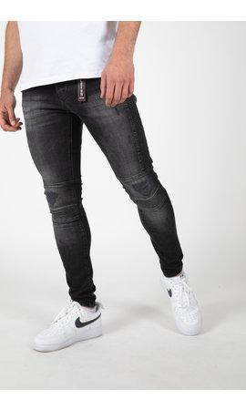 LEYON LEYON Ribbed Black Jeans 2044-1