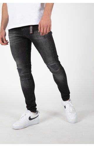 LEYON LEYON Ribbed Black Jeans 2044-1