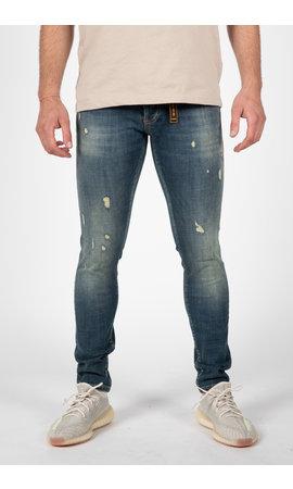 LEYON LEYON Destroyed Orange Jeans 2046