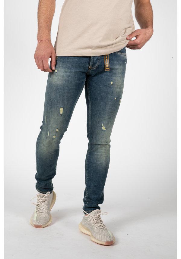 LEYON Destroyed Orange Jeans 2046