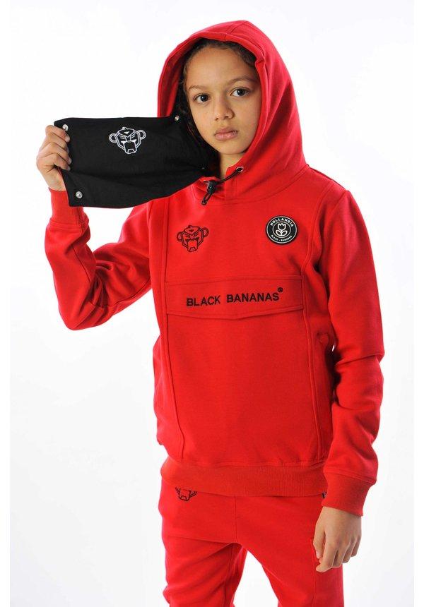Black Bananas JR Mask Hoody Red