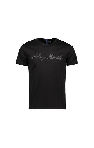 Antony Morato Antony Morato Tshirt SS20 MMKS01858 Logo Zwart
