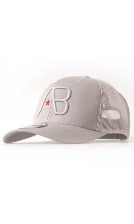 AB-Lifestyle AB Lifestyle Retro Trucker Cap Silver
