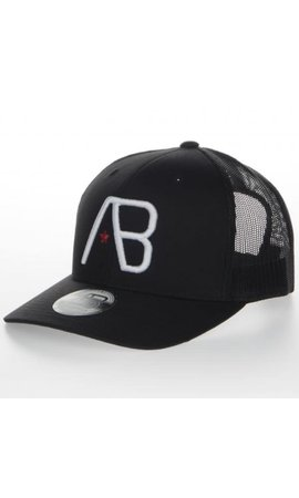 AB-Lifestyle AB Lifestyle Retro Trucker Cap White On Black