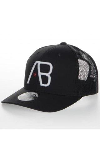 AB-Lifestyle AB Lifestyle Retro Trucker Cap White On Black