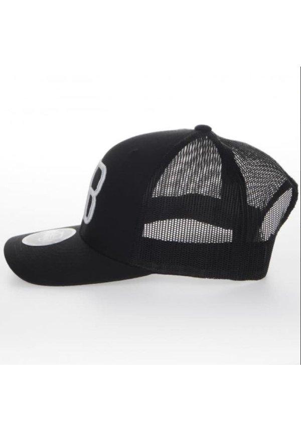 AB Lifestyle Retro Trucker Cap White On Black
