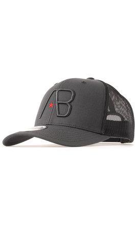 AB-Lifestyle AB Lifestyle Retro Trucker Cap Black on Dark Grey