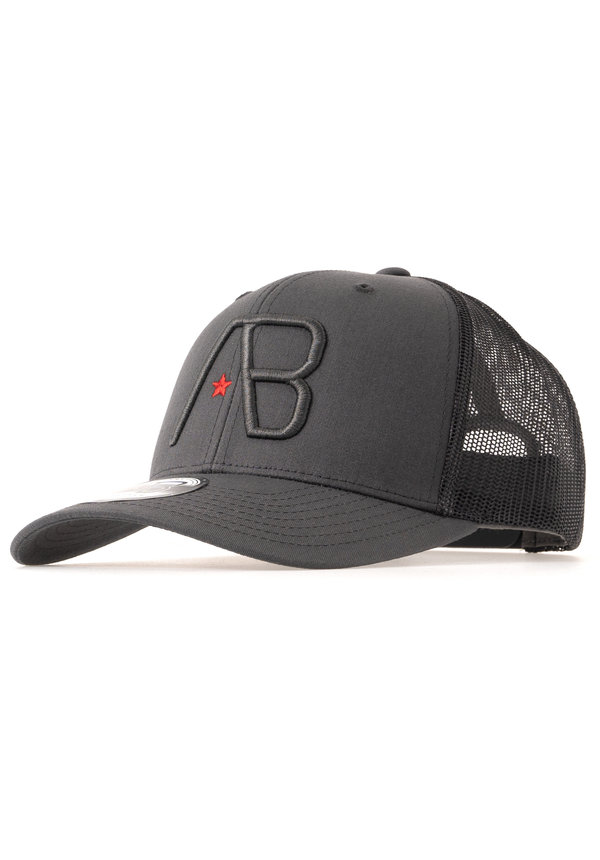AB Lifestyle Retro Trucker Cap Black on Dark Grey