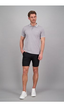 Airforce Airforce ss20 HRM0655 Polo Double Stripe Grey/White