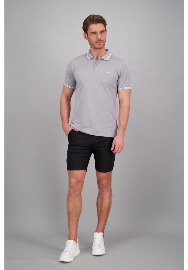 Airforce ss20 HRM0655 Polo Double Stripe Grey/White