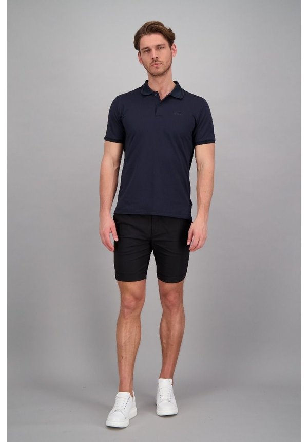 Airforce ss20 HRM0655 Polo Double Stripe Dark Navy