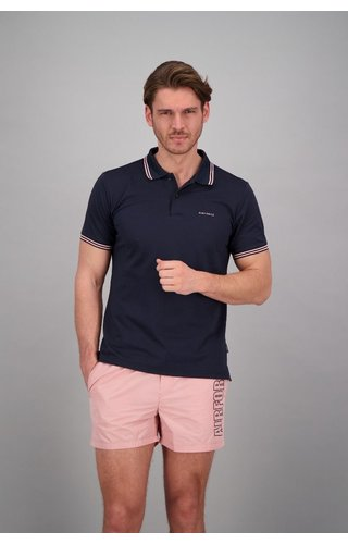 Airforce Airforce ss20 HRM0655 Polo Double Stripe Navy/Roze