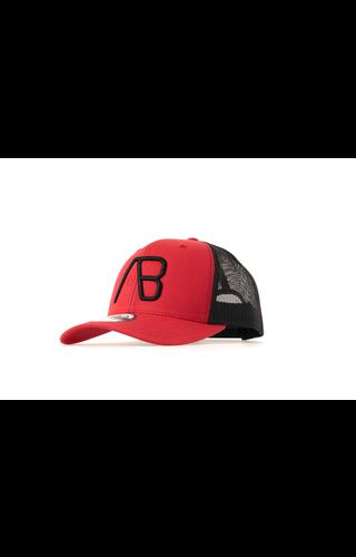 AB-Lifestyle AB Lifestyle Retro Trucker Cap Red/Black