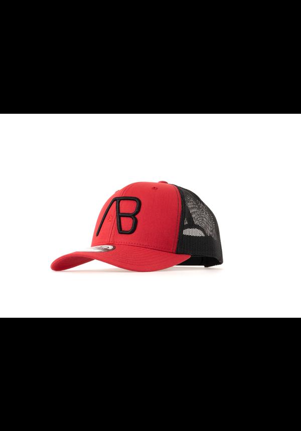 AB Lifestyle Retro Trucker Cap Red/Black